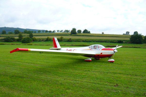 Segelflugzeug mit Motorkraft