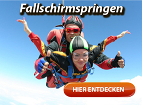 Angebote zum Fallschirmspringen - Solo und Fallschirm-Tandemsprung